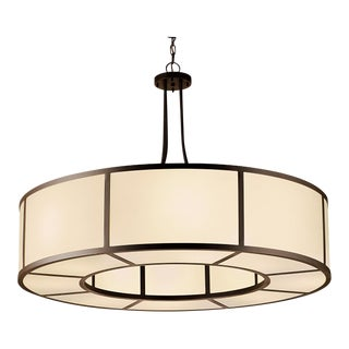 Art Deco Style Ailsa Acrylic and Bronze Pendant Light