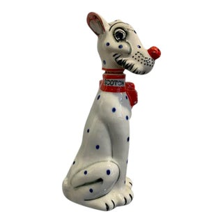 Dalmation Spotted Dog Scotch Decanter For Sale