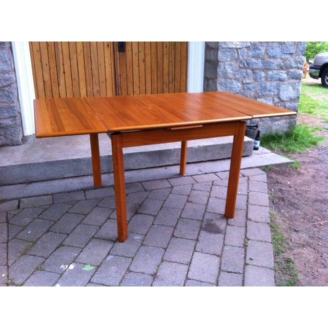 Danish Modern Drop-Leaf Dining Table - Image 3 of 7