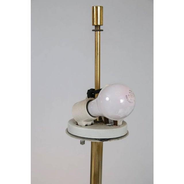 Midcentury Brass and Formica Table Floor Lamp - Image 2 of 6