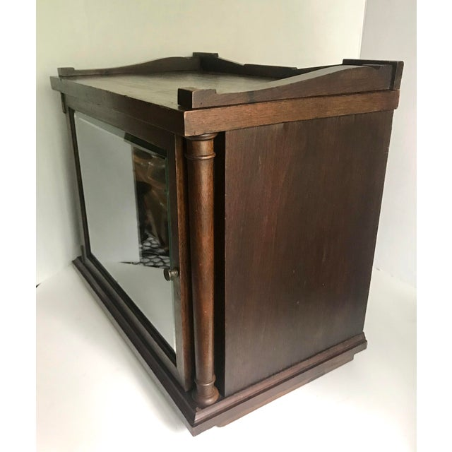 Early 20th Century Antique Wood and Glass Display Cabinet For Sale - Image 5 of 10