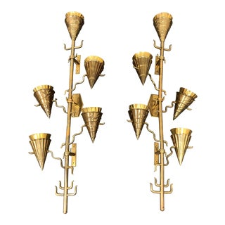 Phoenix Day Custom 5-Light Wall Sconces - A Pair For Sale