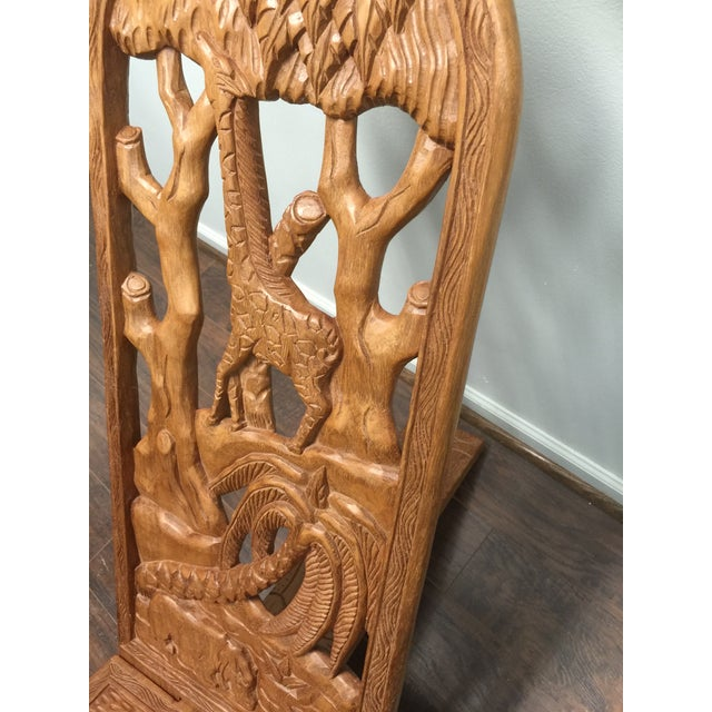 Kenyan Hand Carved Lazy-Chair - Image 5 of 6
