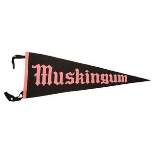Muskingum Ohio College Felt Flag For Sale