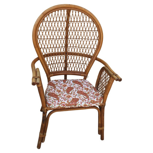 Vintage Rattan Bamboo Chair - Image 1 of 11