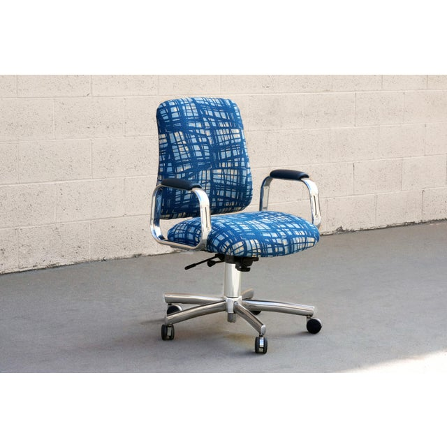 Chrome Vintage SteelCase Executive Steno Armchair, Refinished For Sale - Image 7 of 7
