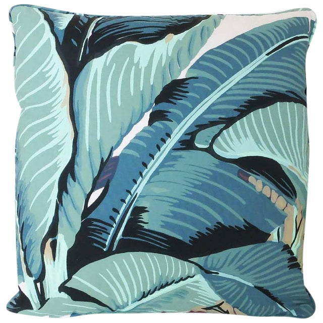 "Beverly Hills Hotel ""Martinique Banana Leaf"" Throw Pillow - Image 1 of 2"