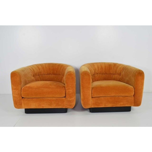 Pair of Milo Baughman Style Lounge Chairs by Metropolitan Furniture - Image 7 of 9