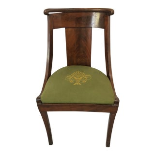 Antique Mahogany Accent Chair For Sale