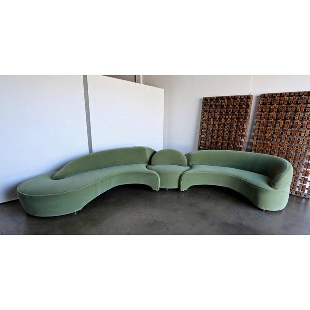 "Contemporary Vladimir Kagan ""Comete"" Sofa for Roche Bobois, 2003 - Set of 3 For Sale - Image 3 of 13"