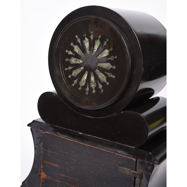 Bronze Antique French Marble and Bronze Mantle Clock For Sale - Image 7 of 10