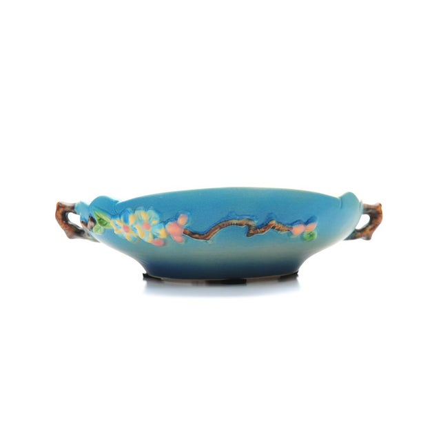 Antique Roseville Pottery Blue Bowl For Sale In Los Angeles - Image 6 of 10