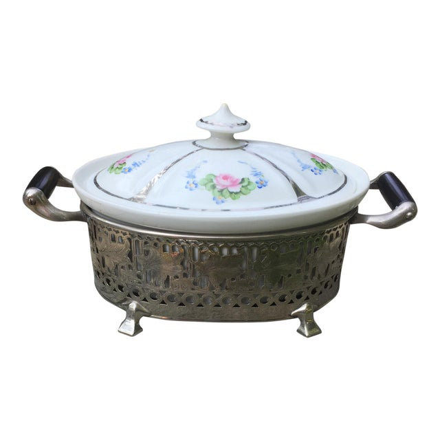 Vintage Royal Rochester Tureen in Silver Caddy - Image 1 of 10