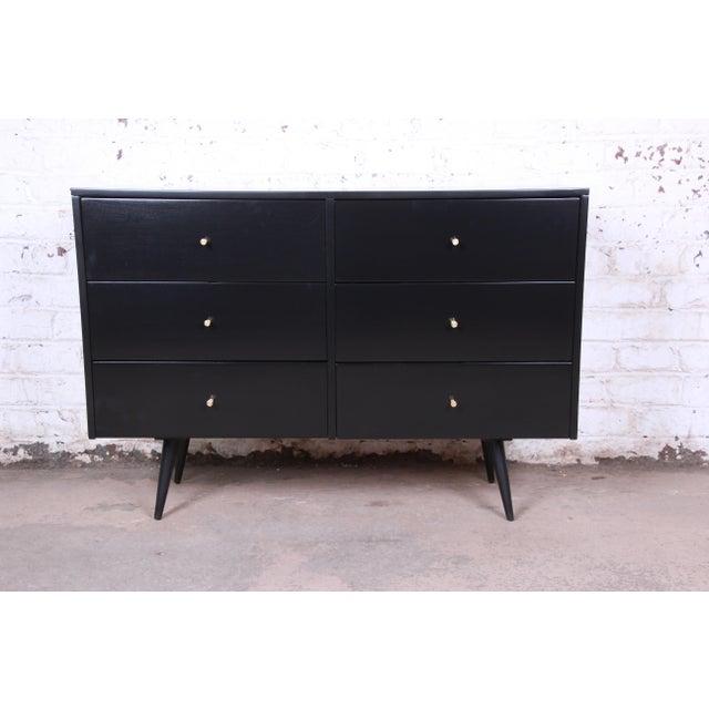 Paul McCobb Planner Group Ebonized Six-Drawer Dresser, Newly Restored For Sale - Image 11 of 11
