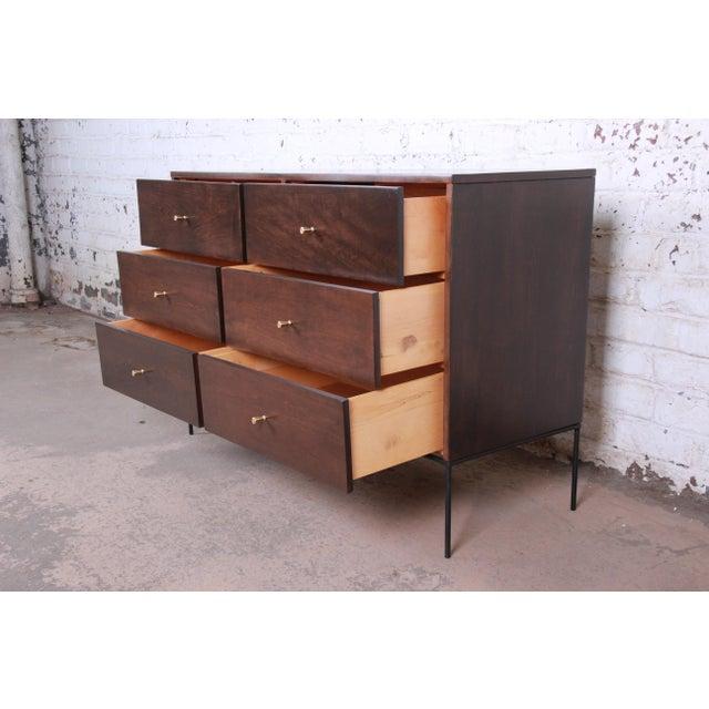 Black Paul McCobb Planner Group Iron Base Six-Drawer Dresser or Credenza For Sale - Image 8 of 11