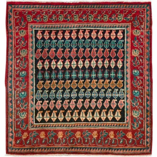 """Vintage Persian Mahal Rug – Size: 2' 9"""" X 2' 10"""" For Sale"""