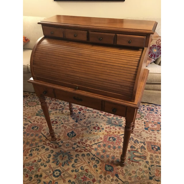 Early American Tell City Chair Company Roll-Top Secretary Desk For Sale - Image 13 of 13