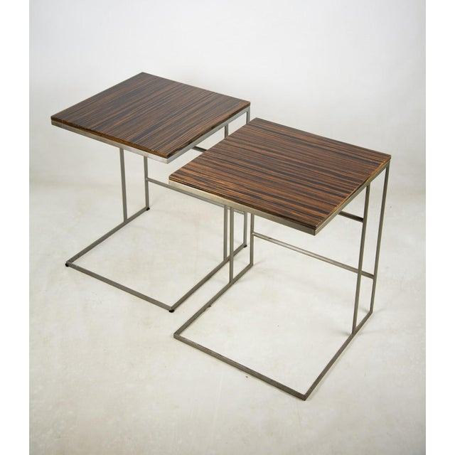 Contemporary 1990s Desiron Lap Tables - a Pair For Sale - Image 3 of 13