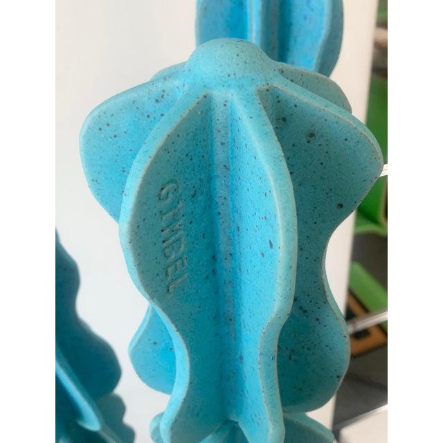 Mid-Century Modern Turquoise Monstrosus Ceramic Sculpture For Sale - Image 3 of 5