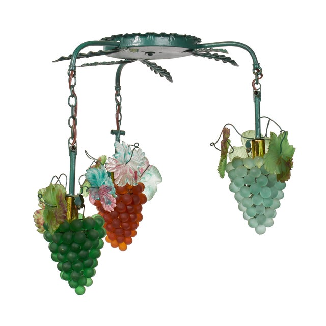One of a kind light to light up any room in a fun and fanciful way. These grape clusters were part of the decor an Italian...