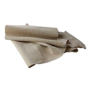 Linen Upholstery Fabric Material Hemp Homespun Antique 14yds Cutting Bolt For Sale