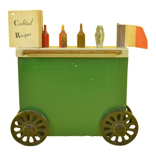 Wonder Bar Cart with Cocktail Recipes Booklet & 5 Cocktail Picks For Sale