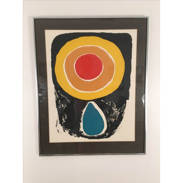 Vintage Abstract Lithograph - Image 2 of 6