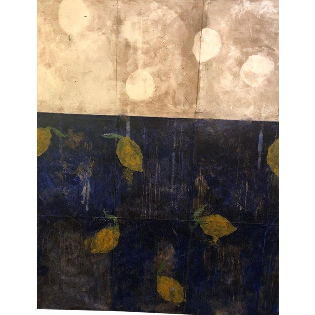 "Oil on Canvas Pierre Brisson Titled on Reverse ""Citrons Dans Le Grand Canal"" For Sale"