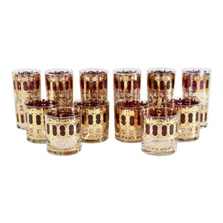Mid-Century Culver Cocktail Glasses- Set of 12