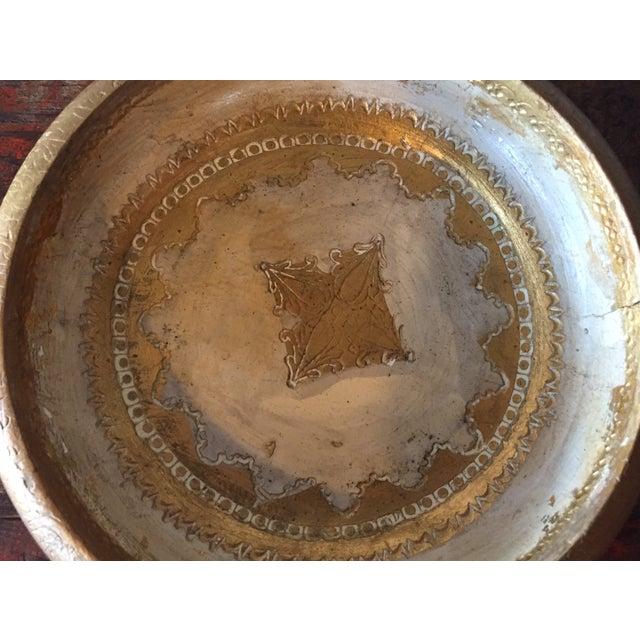 Italian Florentine Wood & Glass Ashtray - Image 6 of 9