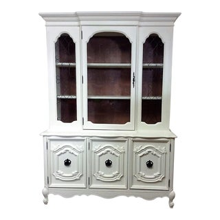 Bassett French Provincial China Cabinet For Sale