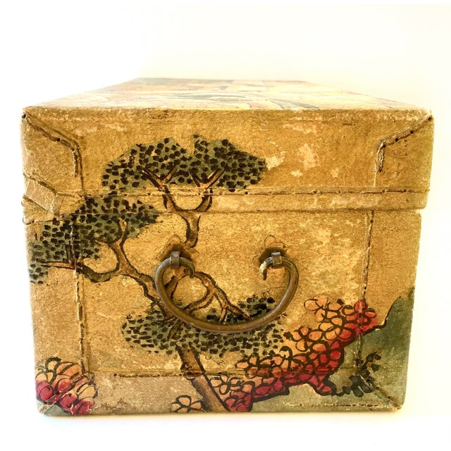 Brown Chinese Qing Dynasty Pigskin Box For Sale - Image 8 of 13