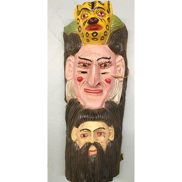 Vintage Mexican Carved Mask - Image 2 of 4