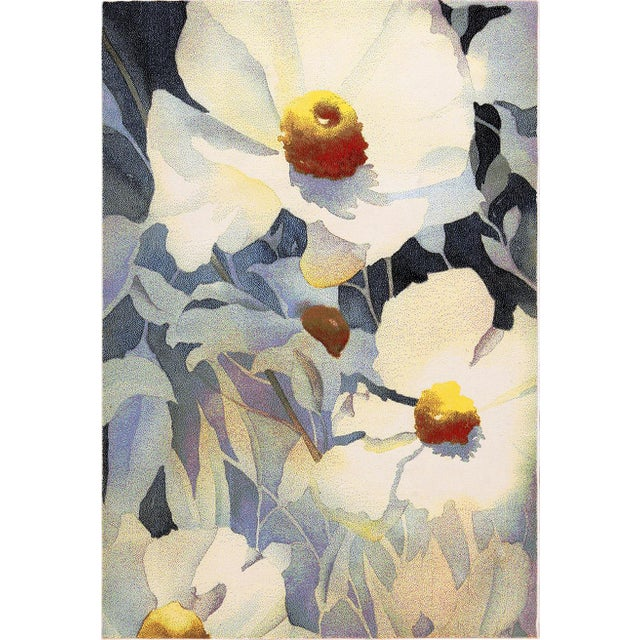 Vintage Georgia O'Keeffe Art Rug- 5′2″ × 7′4″ For Sale In New York - Image 6 of 6