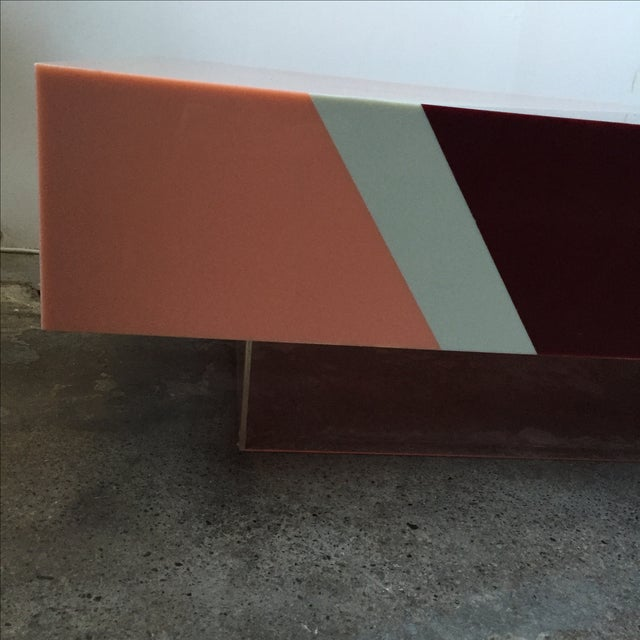 Vintage Pink Mica & Lucite Cocktail Table - Image 5 of 10