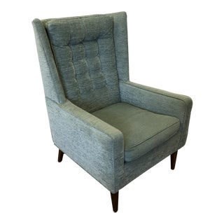 Mid Century Wingback Chair Attributed to Paul McCobb For Sale