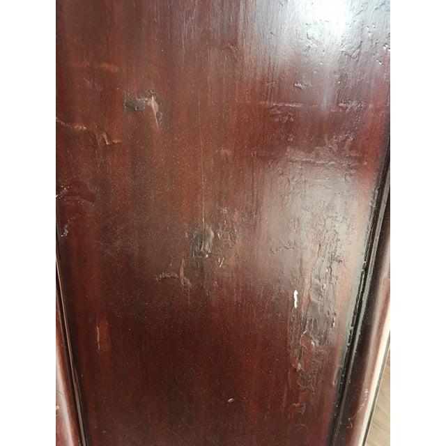 Brown Antique Chinese Oxblood Red Cabinet For Sale - Image 8 of 12