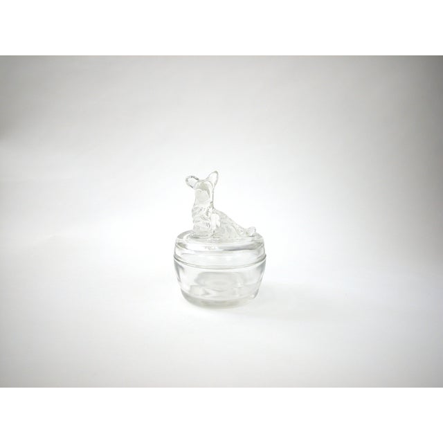 Lidded Glass Bowl with Dog - Image 3 of 10