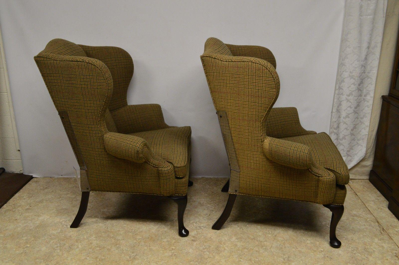 Ralph Lauren Upholstered Wingback Chairs   A Pair For Sale   Image 5 Of 10