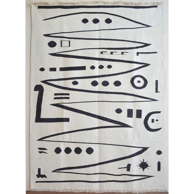 Paul Klee - Heroic Strokes of the Bow - Inspired Silk Hand Woven Area - Wall Rug 4′7″ × 6′4″ For Sale - Image 12 of 12