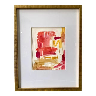 """""""Relaxation in Maui"""" Contemporary Abstract Watercolor Painting by Ebony Boyd, Framed For Sale"""