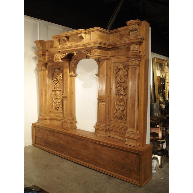 A Large and Unique Antique French Boiserie Section with Covered Alcove, 17th Century Elements For Sale - Image 11 of 11