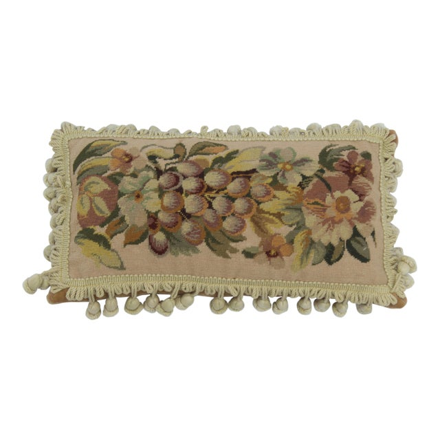19th Century Needle Point Down Lumbar Pillow For Sale - Image 9 of 9