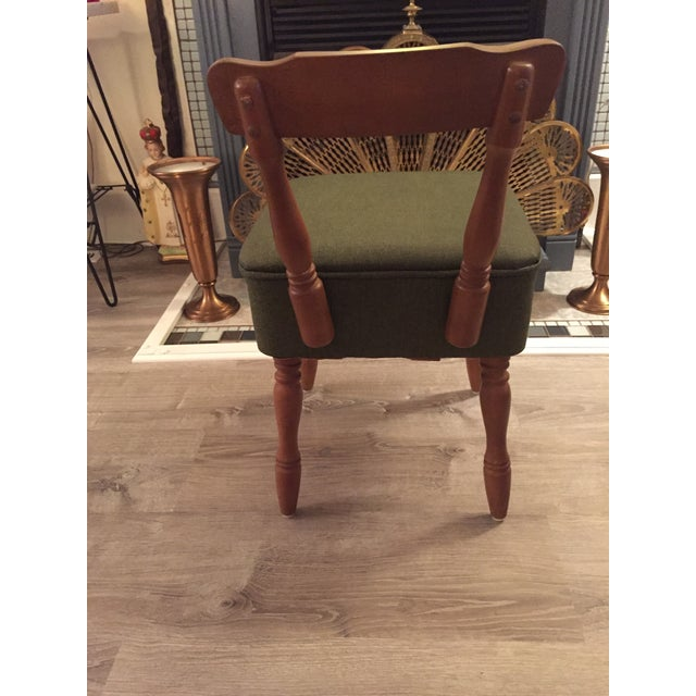 Vintage Vinyl Sewing Hassock Stool For Sale In New York - Image 6 of 7