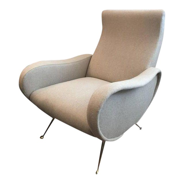 Sculptural Zanuso Style Single Armchair For Sale