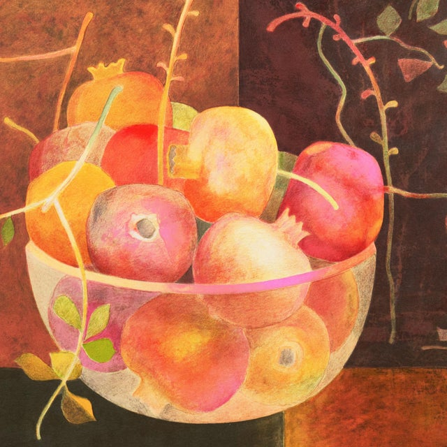 1970s Still Life of Pomegranates by Pierre Garcia Fons For Sale - Image 5 of 10
