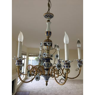 20th Century Traditional Hand Painted Chandelier Preview