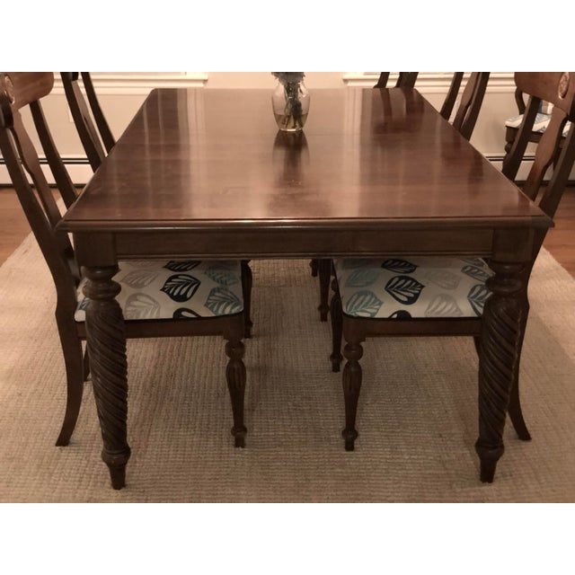 2000 - 2009 Modern Ethan Allen British Classic Dining Set For Sale - Image 5 of 10