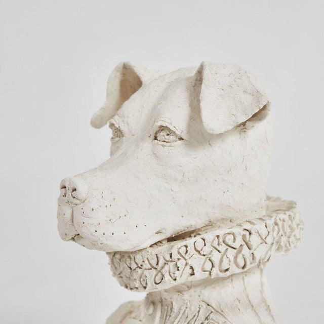 Dog Sculpture in Plaster For Sale - Image 4 of 5