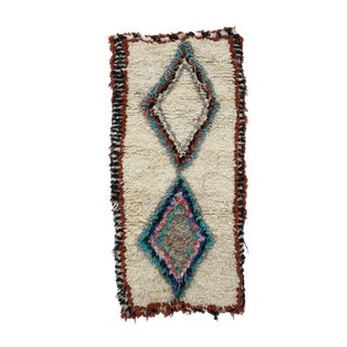 1980s Vintage Azilal Moroccan Rug - 3′ × 5′3″ For Sale